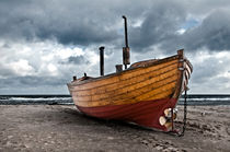 Fischerboot an der Ostsee von Katrin Raabe