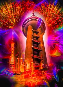 Shanghai,Skyline,Oriental Pearl Tower von Walter Zettl