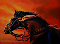 War Horse Joey painting by Paul Meijering