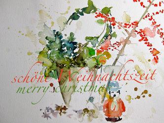 Malen-am-meer-aquarell-sonja-jannichsen-weihnachtskarte-gross-mit-text-maennchen-quer