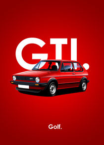 Golf GTI Poster Illustration by Russell  Wallis