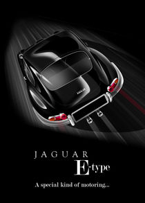 Jag E-Type Poster Illustration by Russell  Wallis