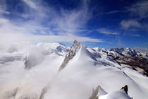Nebel am Rimpfischhorn by Gerhard Albicker