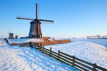 Dutch windmills in winter von Sara Winter