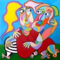 Painting Lost in each other - Gemälde In einander verloren von Twan de Vos