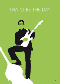 No056 MY BUDDY HOLLY Minimal Music poster by chungkong