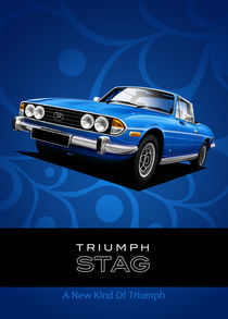 Triumph Stag Poster Illustration by Russell  Wallis