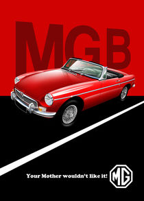MG B Poster Illustration by Russell  Wallis