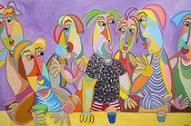 Gemälde Ansager - Painting entertainer von Twan de Vos