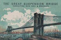 The Brooklyn Bridge with Title von decoratifcollections