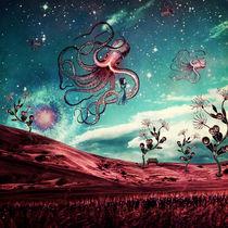 Sunrise Flight on Purple Planet von Paula  Belle Flores