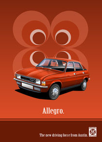Austin Allegro Poster Illustration by Russell  Wallis