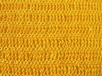 Häkelmuster aus dreifach Stäbchen und festen Maschen in Gelb by Heike Rau