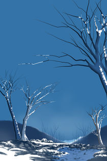 Winter Abstract by Bedros Awak