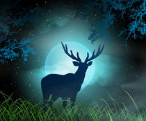 Moonlight Elk by Bedros Awak