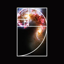 Fibonacci Spiral Galaxy von Galactic Mantra