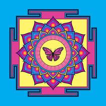 Butterfly Mandala von Galactic Mantra