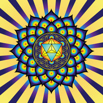 Flower of Life with Merkaba by Galactic Mantra