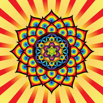 Flower of Life with Metatron's Cube von Galactic Mantra