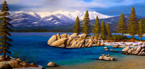 Winter at Sand Harbor Lake Tahoe von Frank Wilson