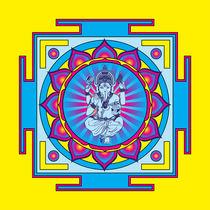 Ganesha-mandala-blue