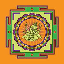 Ganesha-mandala-green