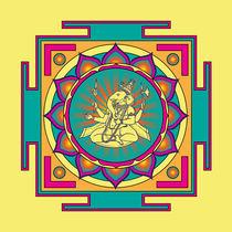 Ganesha Mandala von Galactic Mantra