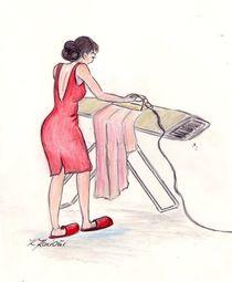 MaMamsell bügelt  ©KatKaciOui von Katrin KaciOui