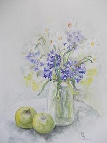 Frühlingsblumen und Äpfel von Dorothy Maurus