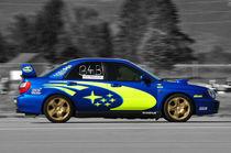 Subaru Impreza Rallye Car, Mitzieher, Colorkey by Mark Gassner