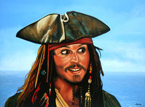 Captain Jack Sparrow painting von Paul Meijering