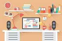 Flat Design Office Desk 02 von bluelela
