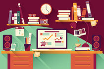 Flat Design Office Desk 03 von bluelela