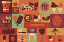 Flat Food Icons von bluelela