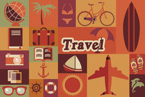Flat Travel Icons von bluelela