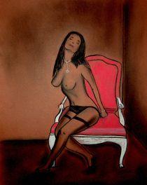 Pastellmalerei, Halterlos von Anke Franikowski