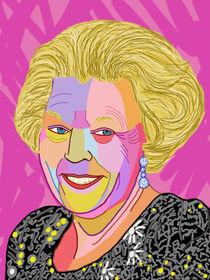 Portrait queen Beatrix - Portrait Königin Beatrix