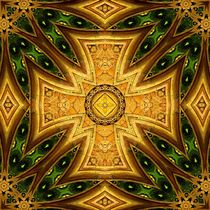 Maltese-Celtic Combo Stained-Glass Mandala by Richard H. Jones