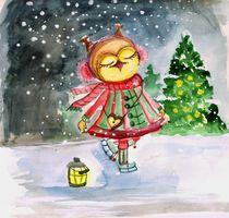 Eule, Schnee, Weihnachten, Silvester, Frohe Weihnachtszeit
