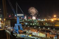 Sylvester - Hamburg Industriehafen und Hafencity von Lars Niebling