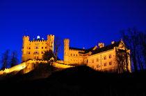Nachtaufnahme Schloss Hohenschwangau, Hohenschwangau Castle by Mark Gassner