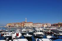 Hafen von Rovinj mit Blick auf die Altstadt by Mark Gassner