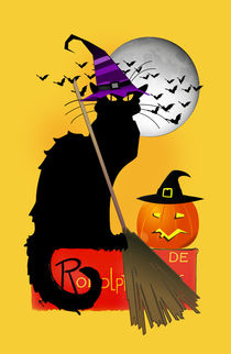 Le Chat Noir - Halloween Witch by gravityx9