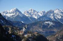 Neuschschwanstein und Hohenschwangau vor dem Alpsee von Mark Gassner
