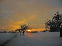 Sonnenuntergang im verschneiten Allgäu - Sunset by Mark Gassner