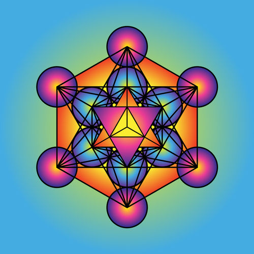 Metatrons-cube-with-merkaba-orange