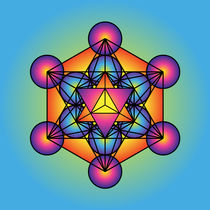 Metatron's Cube Merkaba  by Galactic Mantra
