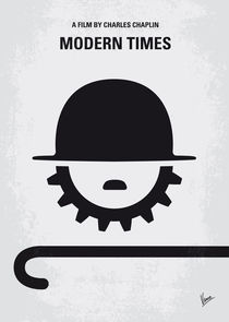 No325 My MODERN TIMES minimal movie poster by chungkong