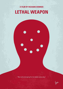 No327 My Lethal Weapon minimal movie poster by chungkong