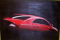 rotes Auto by Sieglinde Talke